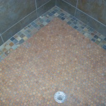 mosaic-unfinished-Versacork Lakehouse Shower